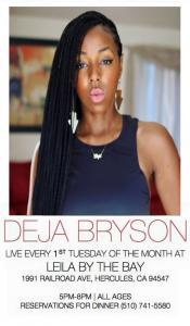 Deja Bryson Jazz Night February 7 at Leila