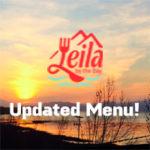 Leila by The Bay - New Menu at Leila - San Francisco Bay View, logo and text